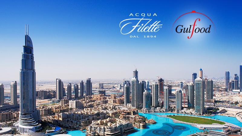 Acqua Filette alla fiera Gulfood di Dubai