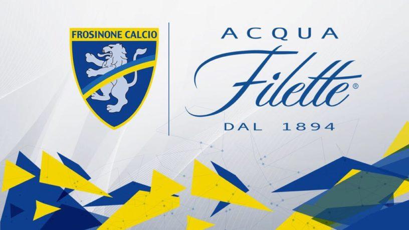 Acqua Filette sponsor Frosinone calcio